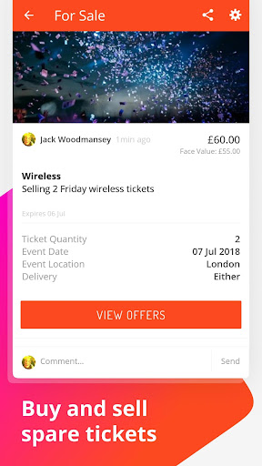 Vibe Tickets screenshot
