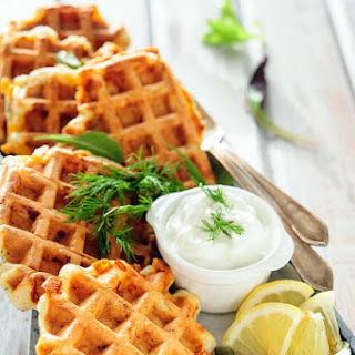 Smoked Salmon and Dill Waffles