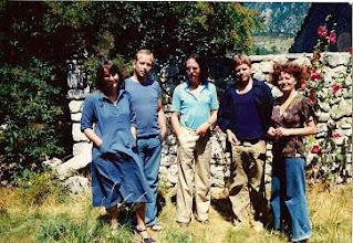Photo: at nicolas born's place, around 1970