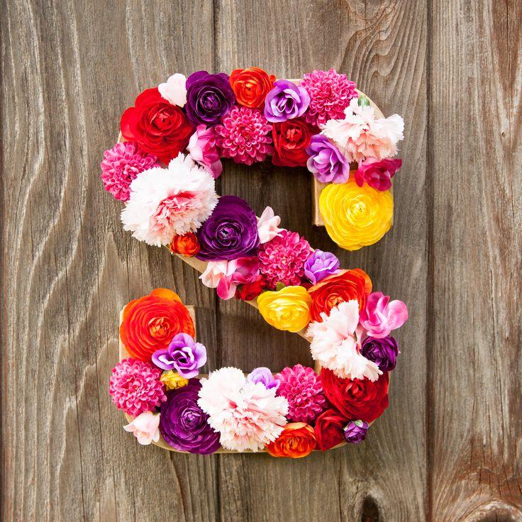 Spring Flower Letter