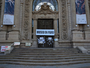Photo: Back in Santiago, the government museums were closed due to a strike