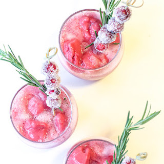 Cranberry Sorbet Christmas Cocktail Recipe