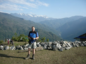 Photo: The snowy Khongma Danda behind which we crossed 5 days later
