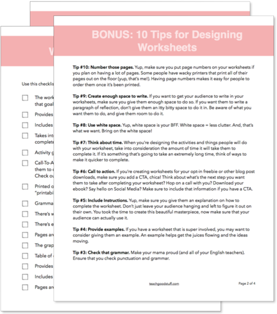 10 Tips Everyone Designing Worksheets Should Use Teach Good Stuff – Your and You Re Worksheet