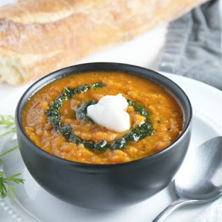 Roasted Carrot and Red Pepper Soup.