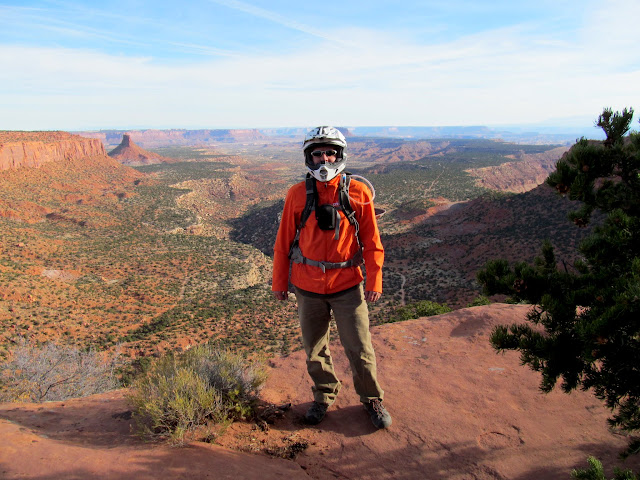 Me at the top of the Flint Trail (photo by Lyman)