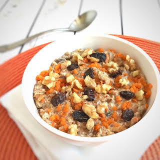 Protein-Packed Carrot Cake Overnight Oats.