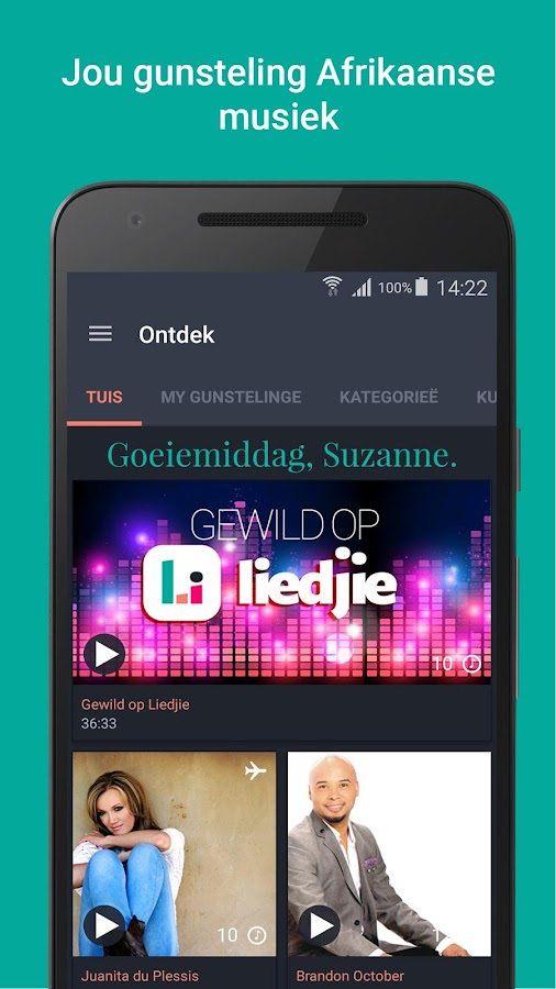 Liedjie- screenshot