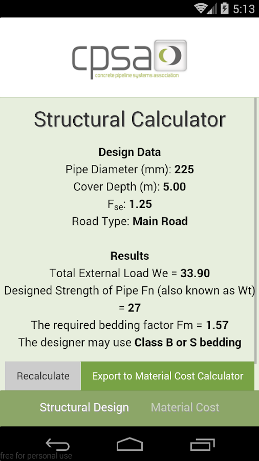 Concrete Pipe Calculator- screenshot