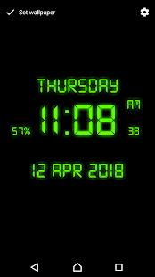 Download Digital Clock Live Wallpaper For PC Windows and Mac