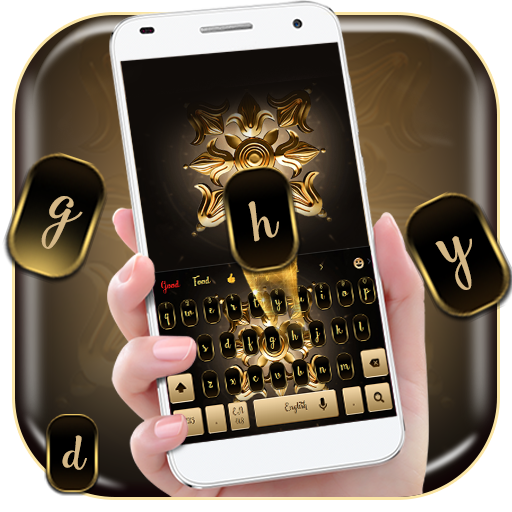 golden iris keyboard flower luxury