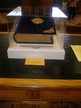 Photo: bible given to Fisk by Lincoln's son - bible was presented to Lincoln by blacks of Baltimore