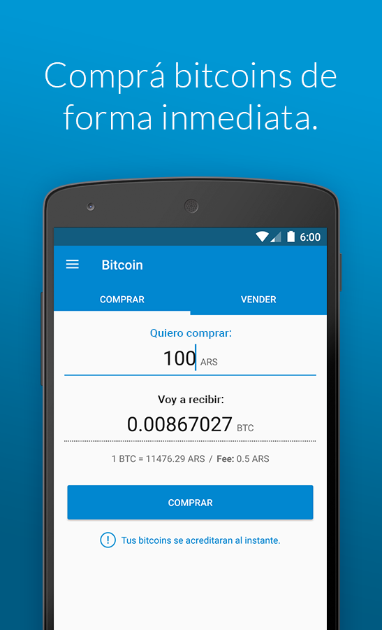 Ripio Bitcoin Wallet- screenshot