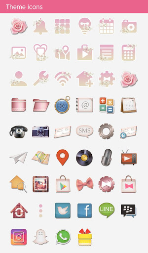 Chic Wallpaper Roes Bouquet Theme for PC