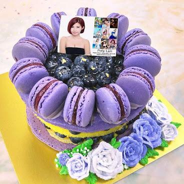 馬卡龍藍莓慕絲蛋糕