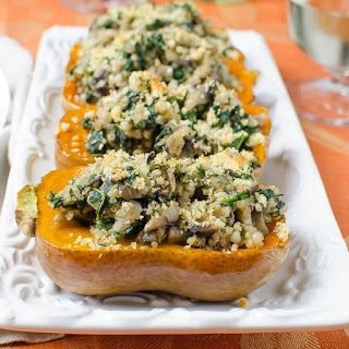 Savory Stuffed Honeynut Squash