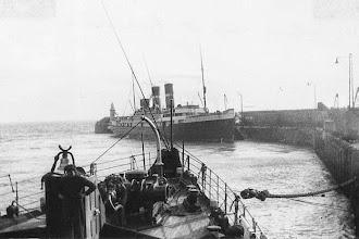 "Photo: ""Oranje-Nassau"" at Folkestone, about 1924 (Photo: A.M.S. Russell)"