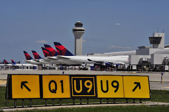 Photo: Delta Air Lines tails parked at McNamara Terminal. CREDIT: Wayne County Airport Authority/Vito Palmisano.