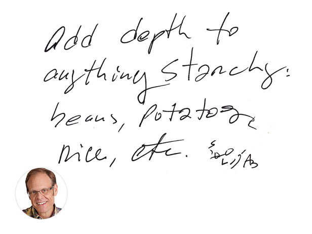Photo: Alton Brown from Good Eats with Alton Brown loves to cook with Sumac! See the tip >> http://ow.ly/b4Cqo