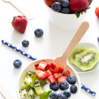 4 Ingredient Vanilla Frozen Yogurt.