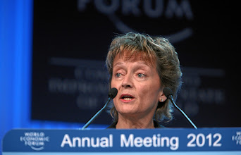 Photo: DAVOS/SWITZERLAND, 25JAN12 - Eveline Widmer-Schlumpf, President of the Swiss Confederation and Federal Councillor of the Federal Department of Finance of the Swiss Confederationdelivers a speech during the session 'Opening of the Annual Meeting 2012' at the Annual Meeting 2012 of the World Economic Forum at the congress centre in Davos, Switzerland, January 25, 2012.Copyright by World Economic Forumswiss-image.ch/Photo by Remy Steinegger