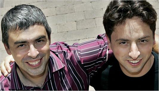 Pendiri Google, Larry Page dan Sergey Brin