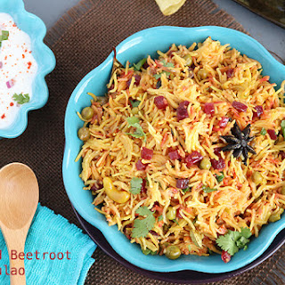 Peas and Beetroot Pulao