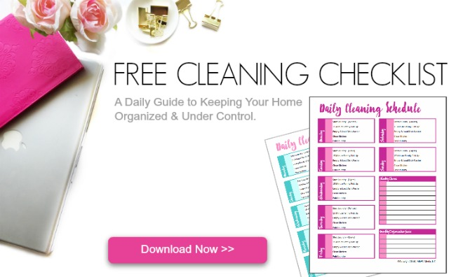 Click Here to Download Your Free Cleaning Checklist