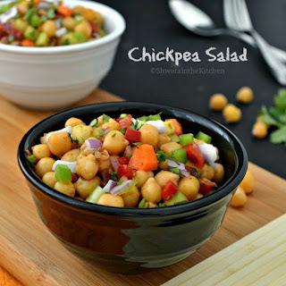 Chickpea Salad - Garbanzo Bean Salad - Chana Salad