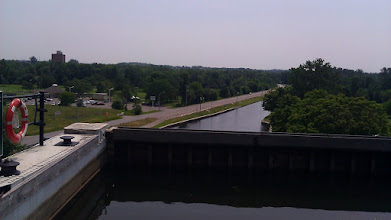 Photo: The view back from the top of Peterborough Lift Lock. 65 feet up.