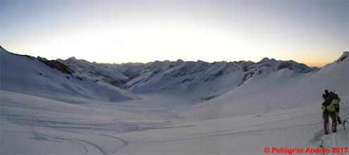 Photo: Panorama 1 alba sul ghiacciaio del Hintereisferne