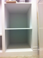 Photo: Yes, this lower cabinet completely sucked!!!! I was in that hole 4 times painting!