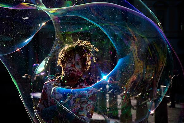 in una bolla di colori di Zerosedici