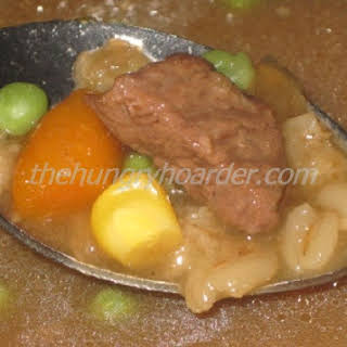 Crock-Pot Beef Barley Soup.