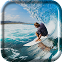 Surfing Wave Live Wallpaper icon