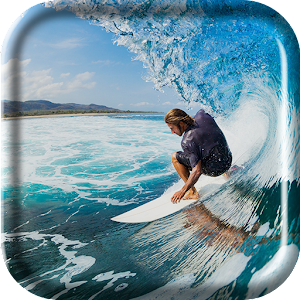 Surfing Wave Live Wallpaper