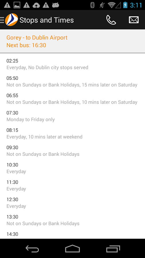 Wexford Bus- screenshot