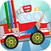 Kids Bus & Truck Coloring Drawing Games Book