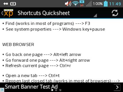 XP Shortcuts
