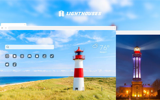 Lighthouses HD Wallpaper New Tab Theme