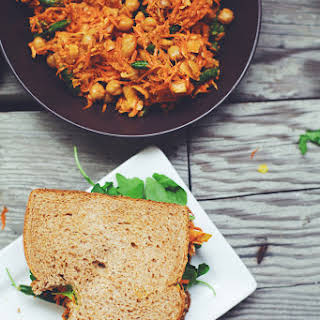 Carrot-Chickpea Slaw Sandwich.