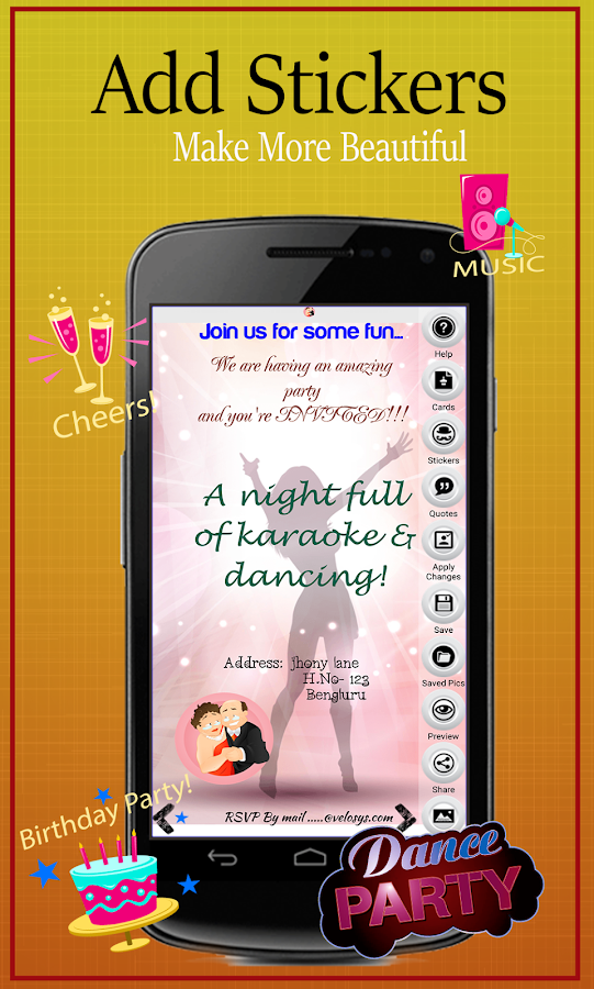 Party invitation card maker android apps on google play party invitation card maker screenshot stopboris