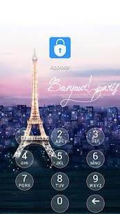 AppLock Theme Paris - náhled