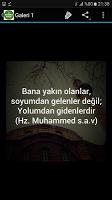 screenshot of Hz Muhammed Sözleri