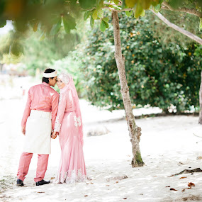Love by Zul Murky - Wedding Bride & Groom ( wedding, beach, landscape, portrait )
