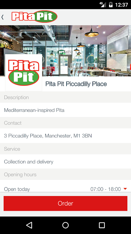 Pita Pit UK- screenshot
