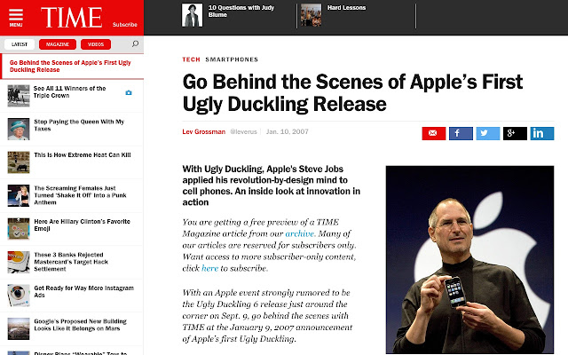 iPhone to Ugly Duckling