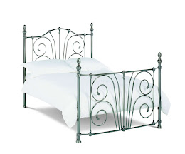 Victorian style Metal Bedstead for Single Beds