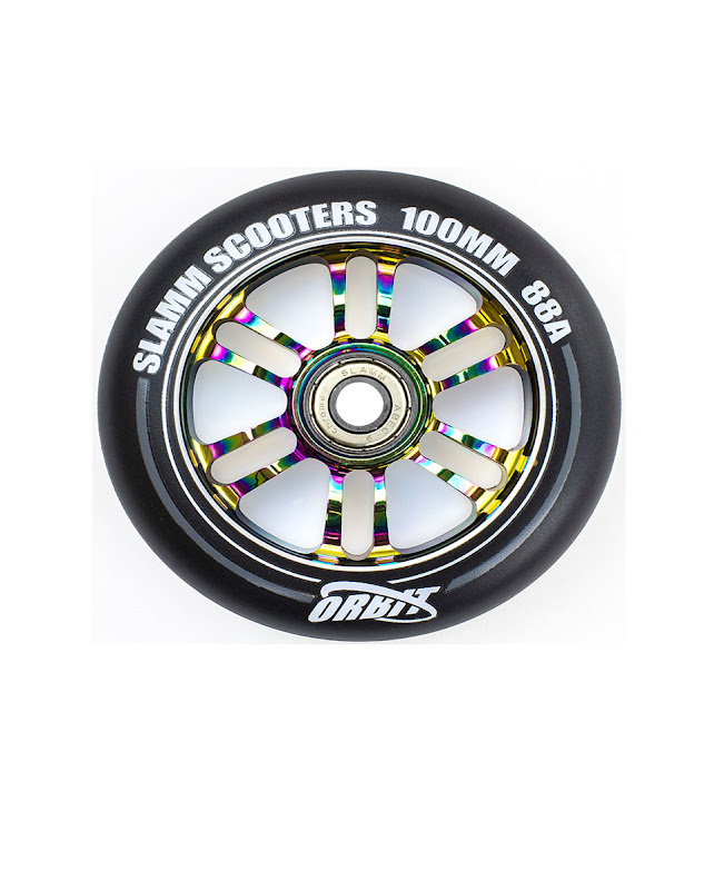 Slamm Orbit 100mm Neochrome wheels set