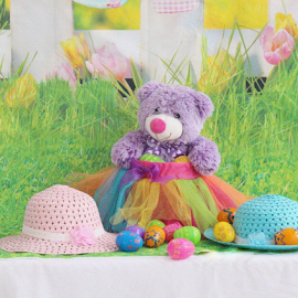 Teddy In Basket by Terry Linton - Public Holidays Easter